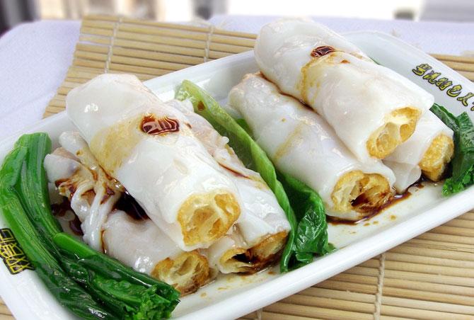 在广式早茶点心中,肠粉里的拉肠要怎么做才好吃?